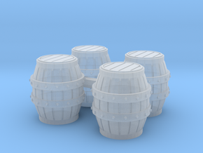HO Scale Barrels in Smooth Fine Detail Plastic