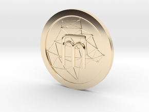 WestarcticaCoin Cryptocoin in 14k Gold Plated Brass