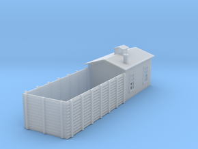 Sand Drying building N scale in Smooth Fine Detail Plastic