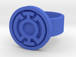 Blue Lantern Ring - Size 12 in Blue Processed Versatile Plastic