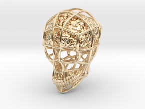 Skull-i ( Brain ) in 14K Yellow Gold