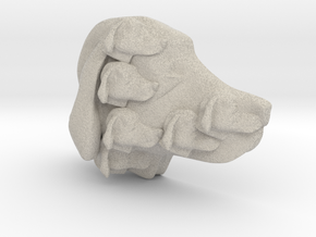 Dog Multi-Faced Caricature (001) in Natural Sandstone