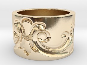 Flourish 2  in 14k Gold Plated Brass: 3 / 44