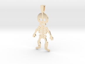 SKELETON in 14k Gold Plated Brass