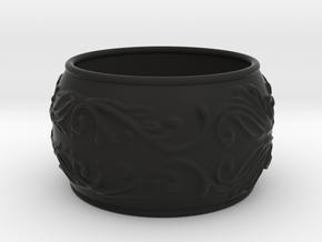 Lady Warrior bracelet in Black Natural Versatile Plastic: Medium