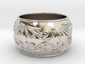 Lady Warrior bracelet in Rhodium Plated Brass: Medium