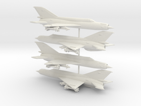 1-285 MiG-21bis 'Fishbed-N' x4 in White Natural Versatile Plastic