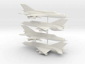 1-285 MiG-21bis 'Fishbed-N' x4 in White Natural Versatile Plastic