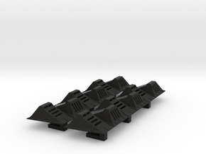 Ice Hangar: Ground Lights 1:43 Tapered - Shapeways in Black Natural Versatile Plastic