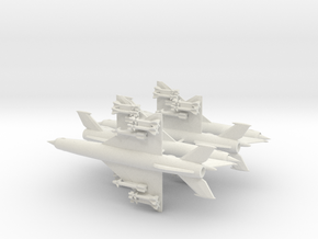 1-300 MiG-21bis 'Fishbed-N' x4 in White Natural Versatile Plastic