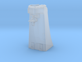 Defence tower w/turret SCI FI in Smooth Fine Detail Plastic