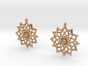 HFlower Earrings in Polished Bronze