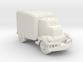 Jeeper's creeper Van v1 87 scale in White Natural Versatile Plastic