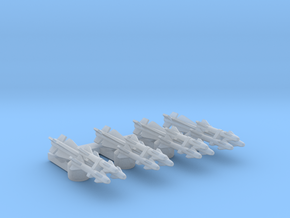 Omni Scale General Type-III Multi-Warhead Drones in Smooth Fine Detail Plastic