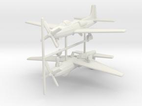 1/285 (6mm) Convair XF-81 (x2) in White Natural Versatile Plastic