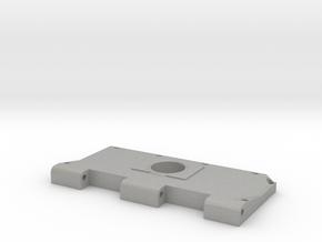Widerlager Lüftergitter, links, offen in Aluminum