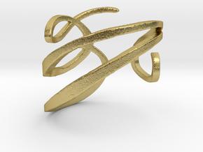 Filigree  Ring  in Natural Brass: 4 / 46.5