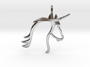 Unicorn in Fine Detail Polished Silver