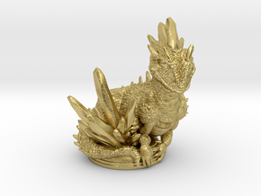 Crystal Dragon 54mm in Natural Brass