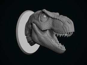 Tyrannosaurus Rex Bust 1/24 in White Strong & Flexible