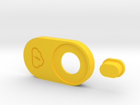 """SquonkModY V1.0 22mm MM510 """"FatBoy"""" Top Plate in Yellow Processed Versatile Plastic"""
