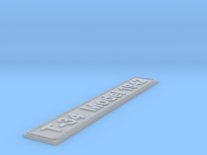 Nameplate T-34 Model 1942 in Smoothest Fine Detail Plastic