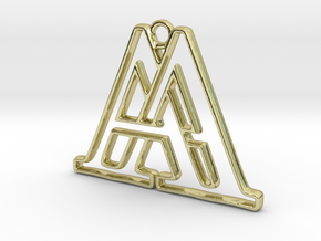 Monogram with initials A&A in 18k Gold Plated Brass