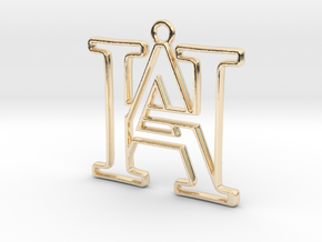 Monogram with initials A&H in 14k Gold Plated Brass