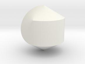 Hexasphericon Solid & True in White Premium Versatile Plastic