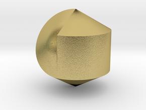 Hexasphericon Solid & True in Natural Brass