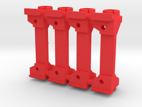 PSSW00201_4 set 4 adapter for Sideways motor mount in Red Processed Versatile Plastic