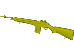 1/24 scale Springfield Armory M-14 rifle x 1 in Smooth Fine Detail Plastic