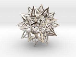 Stellated Truncated Icosahedron in Platinum
