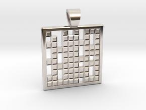 Primes's grid [pendant] in Platinum