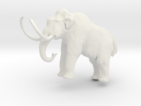 Woolly Mammoth ver4 in White Natural Versatile Plastic