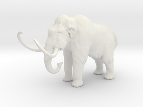 S Scale Woolly Mammoth in White Natural Versatile Plastic