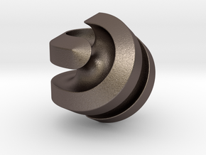 Hexasphericon Channels in Polished Bronzed-Silver Steel