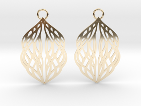 Stream earrings in 14K Yellow Gold: Small
