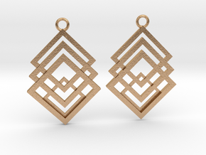 Geometrical earrings no.1 in Natural Bronze: Small