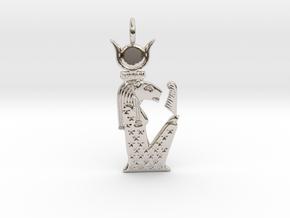 Sekhmet-Nut / Nebetuu amulet in Rhodium Plated Brass