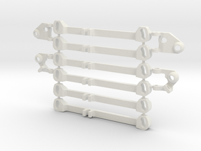 MC3 Wide Front End Stability Kit in White Natural Versatile Plastic