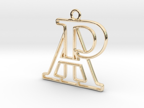 Monogram with initials A&P in 14K Yellow Gold