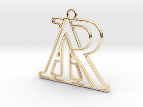Monogram with initials A&R in 14K Yellow Gold