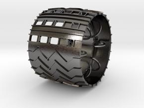 curiosity_wheel_5dia_12mm_hex in Polished Nickel Steel
