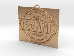 100% Organic in Natural Bronze