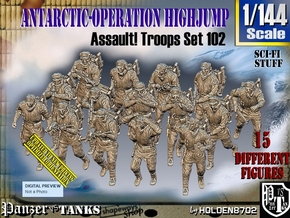 1/144 Antarctic Troops Set102 in Smooth Fine Detail Plastic