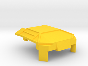 Yellow Lambo Chest in Yellow Processed Versatile Plastic