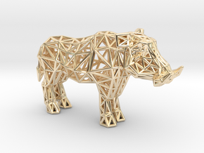 Warthog (adult male) in 14K Yellow Gold