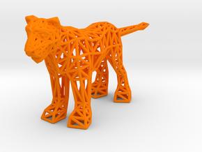 Lion (adult female) in Orange Processed Versatile Plastic