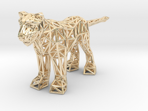 Lion (adult female) in 14K Yellow Gold